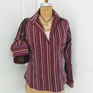 Thomas Pink Stripe Shirt with French Cuffs Size 14